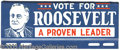 Political:3D & Other Display (1896-present), FDR PORTRAIT LICENSE PLATE. Very scarce variety, in choice condi...
