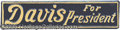 Political:3D & Other Display (1896-present), JOHN W. DAVIS LICENSE PLATE. Extremely rare and desirable both t...