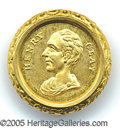 Political:Miscellaneous Political, CLAY CLOTHING BUTTON. Sullivan-Dewitt HC-1844-59 in giltbrass.&...