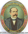Political:3D & Other Display (1896-present), RARE 1904 ALTON PARKER LITHO TIN TRAY. Large, beautiful 13 1/...