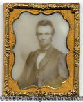 Political:3D & Other Display (pre-1896), MOST UNUSUAL LINCOLN ITEM. A photographic image on a rectangular...