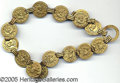 Political:Miscellaneous Political, GREAT U.S. GRANT CAMPAIGN BELT. Formed of 32 interlocking brass ...