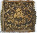 Political:Textile Display (pre-1896), RARE AND UNUSUAL WOVEN ADVERTISING PILLOWCASE FRONT WITH CHESTER...