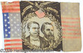 Political:Textile Display (1896-present), RARE 1880 HANCOCK-ENGLISH FLAG BANNER. Display items for this to...