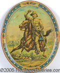 Political:3D & Other Display (1896-present), CLASSIC TEDDY ROOSEVELT ROUGH RIDER LITHO TIN TRAY. Several m...
