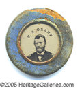 Political:Ferrotypes / Photo Badges (pre-1896), 1868 GRANT/COLFAX VELVET-BORDERED FERRO. 1868 Grant/Colfax velve...