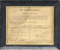 Political:Small Paper (pre-1896), REMARKABLE SIGNED 1819-DATED ORDER FORM FOR SCULPTURE BUSTS OF J...