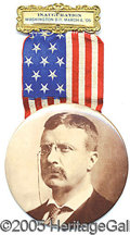 Political:Ribbons & Badges, THEODORE ROOSEVELT INAUGURATION BADGE. 3 1/2...