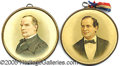 Political:Pinback Buttons (1896-present), MATCHED PAIR OF MCKINLEY AND BRYAN BUTTONS. ...