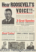 Political:Advertising, THEODORE ROOSEVELT RECORDS AD. 15 x 21² blac...