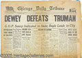 Books:Periodicals, CLASSIC DEWEY DEFEATS TRUMAN NEWSPAPER. Complet...
