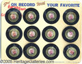 "Political:Advertising, ORIGINAL STORE DISPLAY CARD OF GOLDWATER ""PHONOGRAPH RECORD"". Un..."
