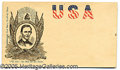 Political:Small Paper (pre-1896), 1860 LINCOLN CAMPAIGN ENVELOPE. An especially nice, colorful var...