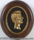 """Political:3D & Other Display (pre-1896), GORGEOUS """"PERIOD"""" LINCOLN DISPLAY PIECE. Bearded Lincoln profile..."""
