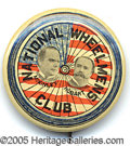 """Political:Pinback Buttons (1896-present), THE BEST VARIETY OF 1 1/4"""" 1896 MCKINLEY HOBART """"NATIONAL WHEELM..."""