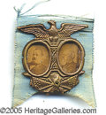 Political:Ferrotypes / Photo Badges (pre-1896), 1888 CLEVELAND-THURMAN JUGATE. Great shape with originalpin.&nb...