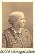 Suffragette Material, CABINET CARD OF SUFFRAGETTE EDNA DOW CHENEY. A little known figu...