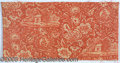 """Political:Textile Display (pre-1896), 1840 WH HARRISON CAMPAIGN FABRIC. 24 x 12"""" double repeat, wit..."""
