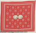 Political:Textile Display (pre-1896), 1888 CLEVELAND-THURMAN JUGATE CLOTH CAMPAIGN BANDANA. Hard to...