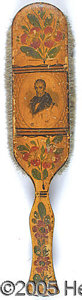 Political:Miscellaneous Political, EXTREMELY RARE 1840 WILLIAM HENRY HARRISON CAMPAIGN HAIR BRUSH. ...
