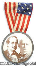 Political:Ribbons & Badges, NICE LARGE SIZED BRYAN STEVENSON JUGATE 1900 BADGE. Large Bryan ...