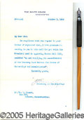 Political:Miscellaneous Political, WOODROW WILSON BILL SIGNING PEN. Wooden nib pen used by Presi...