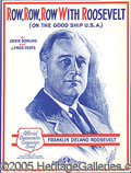 """Political:Miscellaneous Political, THREE PIECES OF FDR SHEET MUSIC. Includes: """"Veto ..."""