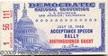 Political:Small Paper (1896-present), POPULAR JFK ACCEPTANCE SPEECH TICKET. From the desired session o...