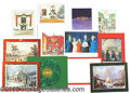 Political:Small Paper (1896-present), WHITE HOUSE CHRISTMAS CARDS.