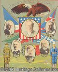 Political:Posters & Broadsides (1896-present), TWO VERY COLORFUL WOODROW WILSON POSTERS. One shows U.S. Pres...