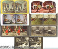 Photography:Stereo Cards, GROUP LOT OF (7) WHITE HOUSE STEREO VIEW CARDS. Group lot of (7)...