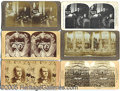 Photography:Stereo Cards, COLLECTION OF (10) POLITICAL AND PRESIDENTIAL STEREO VIEW CARDS....