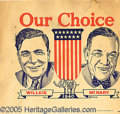 Political:Posters & Broadsides (1896-present), WILLKIE-MCNARY MATE TO ROOSEVELT-WALLACE JUGATE POSTER. Trace...