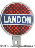 Political:3D & Other Display (1896-present), LANDON LICENSE PLATE. Uncommon RWB variety, with reflective b...