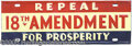 Political:3D & Other Display (1896-present), ANTI-PROHIBITION LICENSE PLATE. Circa 1932 plate, in great sh...