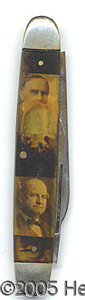Political:Miscellaneous Political, MOST UNUSUAL POCKET KNIFE. With portraits of McKinley, TR, Taft ...
