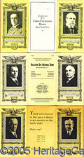 Political:Small Paper (1896-present), SET OF (3) ADVERTISING FOLDERS. Colorful set of (3) 1916-24 adve...