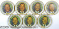 Advertising:Tins, GROUP LOT OF (7) ORIGINAL 1968 MARTIN LUTHER KING LITHO TIN TRAY...