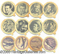 Entertainment Collectibles:Movie, BRYERS ICE CREAM DIXIE LID COLLECTION - MOVIE STARS/PATRIOTIC WW...