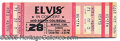 Entertainment Collectibles:Music, THE ELVIS CONCERT THAT NEVER WAS. An unused ticket for a concert...