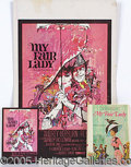 "Entertainment Collectibles:Movie, MY FAIR LADY MOVIE POSTER AND BOOK. Colorful 13 1/2"" x 22"" ca..."