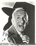 Autographs:Celebrities, JIMMY DURANTE INSCRIBED SIGNED PORTRAIT. Dur...