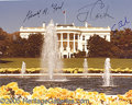 """Autographs:U.S. Presidents, THREE PRESIDENT SIGNED PHOTO. 8 x 10"""" color ..."""