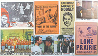 MOVIE POSTERS & LOBBY CARDS FROM 1950'S, 60'S & 70'S. P Lot of movie posters & lobby cards from 1950's to 19...