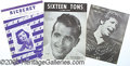 Entertainment Collectibles:Music, 21 ITEM LOT OF SHEET MUSIC-MOSTLY 50'S-60'S. Lot of 21 differ...