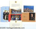 Miscellaneous:Ephemera, PRINCE RAINIER OF MONACO. Group of seven Christmas cards and eng...