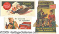 Advertising:Soda Items, (3) COCA COLA PAPER ITEMS. This is a lot of two nice blotters an...