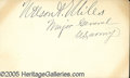 Autographs:Military Figures, NELSON A. MILES AUTOGRAPH. Miles, Nelson A. Civil War and Ind...