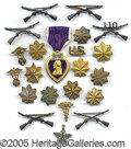 Military & Patriotic:WWII, MILITARY DECORATIONS AND PINS. Please note: Due to the...
