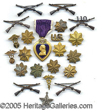 MILITARY DECORATIONS AND PINS. P B Please note: /B Due to the size and/or weight of this lot, additional shipping costs...